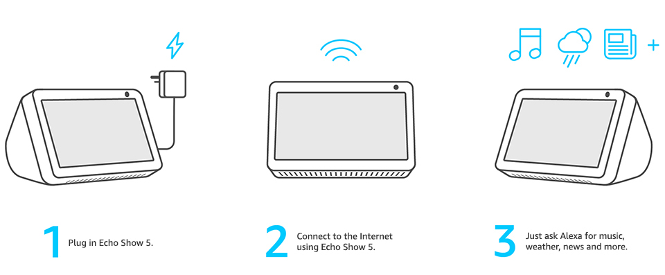 Introducing Echo Show 5 – Compact smart display with Alexa, Black