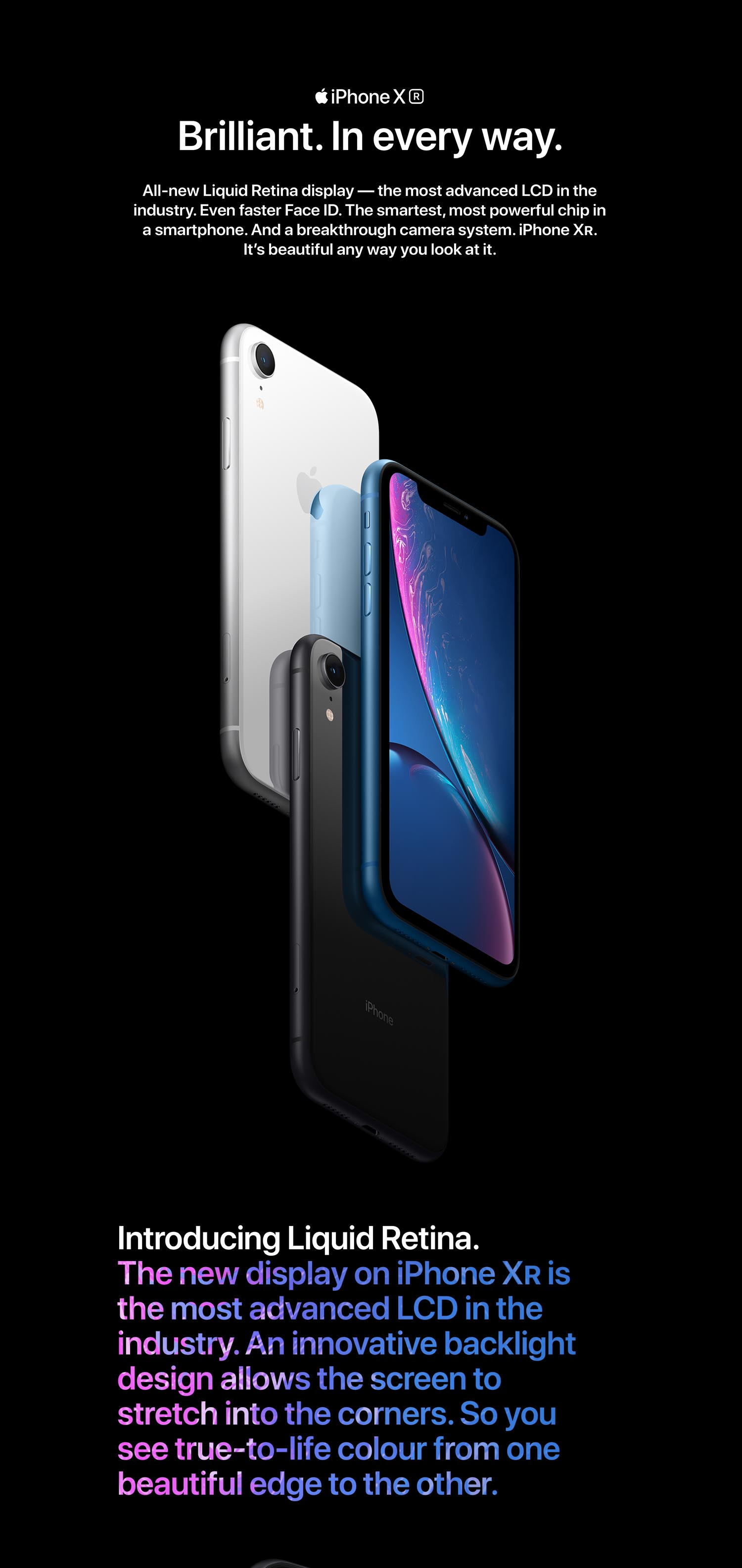 Apple iPhone XR (64GB) - Black