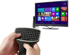 Combining the optional wireless remote and Windows 8 allows you to easily browse and enjoy the best web content and apps