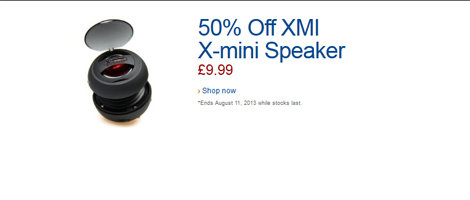 Audio W32 DOTW - Save 50% on XMI X-mini v1.1 Capsule Speaker