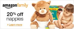 Amazon Family: 20% off Nappies