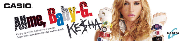Casio Watches:Kesha and Baby G