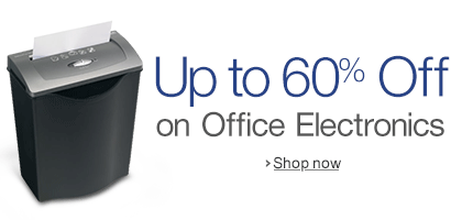 Up to 60% off on Office Electronics