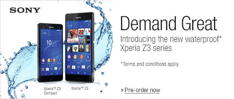 Get a New Sony Z3 and E3 Series Mobile Phones from Amazon UK