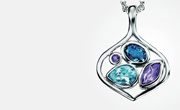 Silver gemstone jewellery