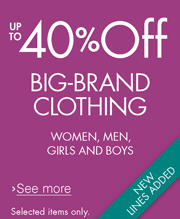 Up to 40% off Big-Brand Clothing