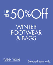 Up to 50% off Shoes and Bags