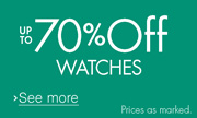 Up to 70% off selected watches