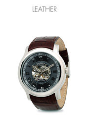 Men's leather strap watches