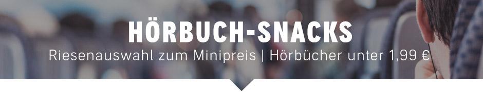Hörbuch-Snacks: Riesenauswahl zum Minipreis. Alle Hörbücher unter 1,99 €