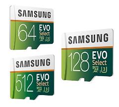 Bis zu -30%: Samsung EVO Select Speicherkarten
