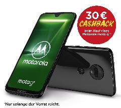 Jetzt das Motorola moto g7 in schwarz kaufen und 30€ Cashback erhalten.