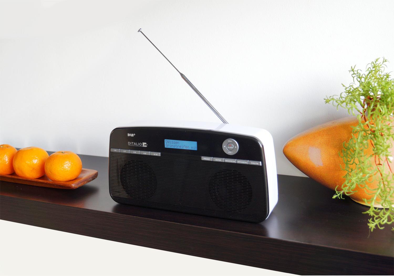 DITALIO ST1 Stereo DAB+/UKW Digitalradio Retro-Style