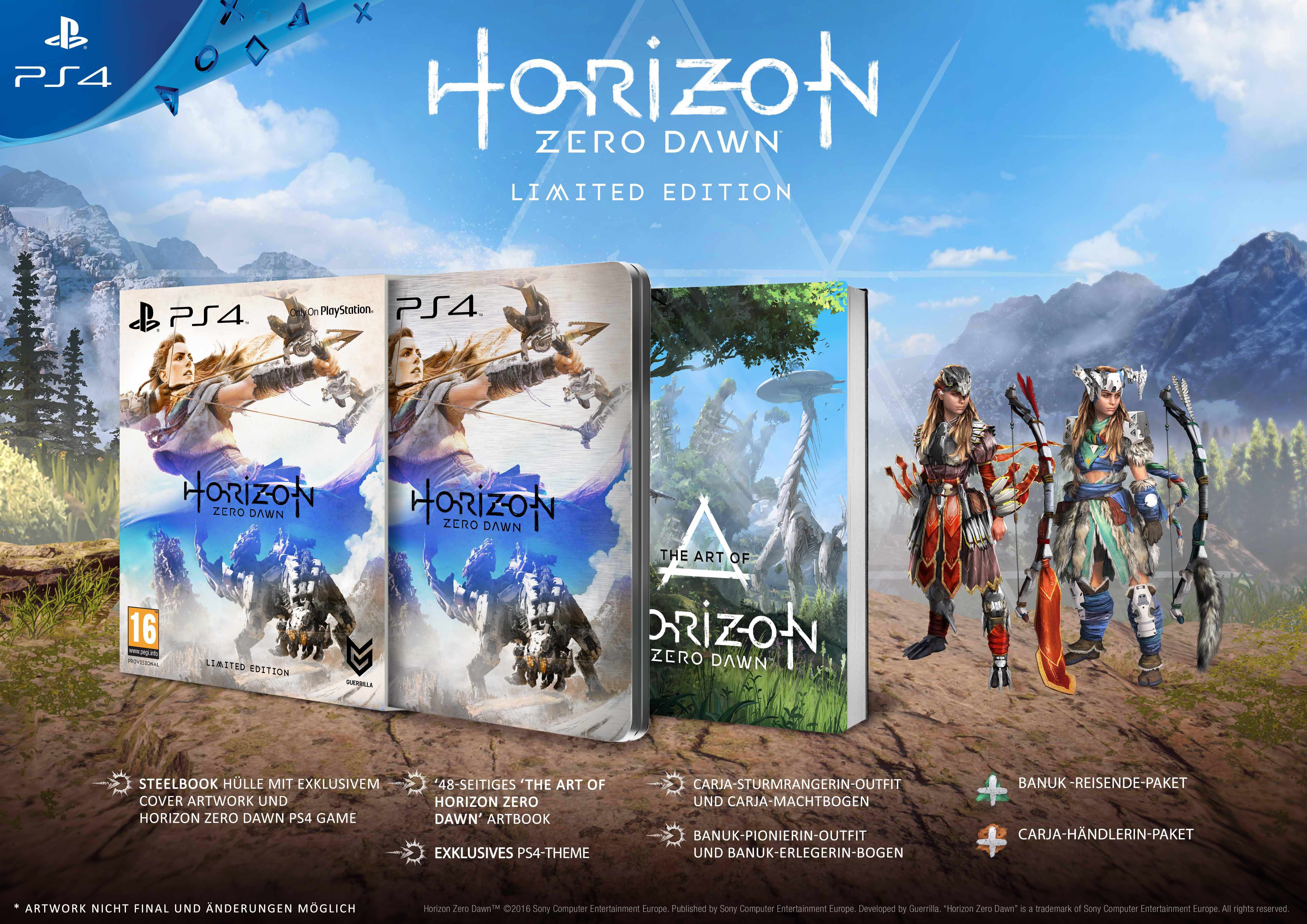 Horizon Zero Dawn Karte Ruinen.Horizon Zero Dawn Limited Edition Playstation 4 Amazon De Games