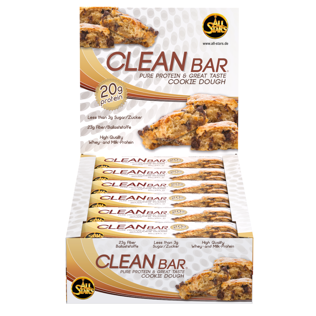 all stars clean bar cookie dough 18er pack 18 x 60 g drogerie k rperpflege. Black Bedroom Furniture Sets. Home Design Ideas