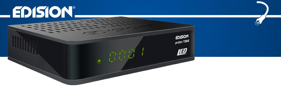 EDISION proton T265 LED DVB-T2 HD H.265 HEVC Full HD