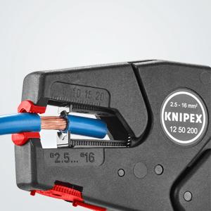 Knipex 12 50 200 selbsteinstellende Abisolierzange