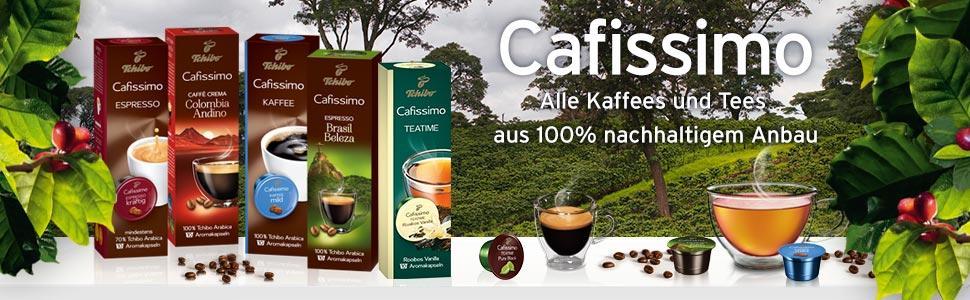 Cafissimo - Alle Kaffees und Tees aus 100% nachhaltigem Anbau