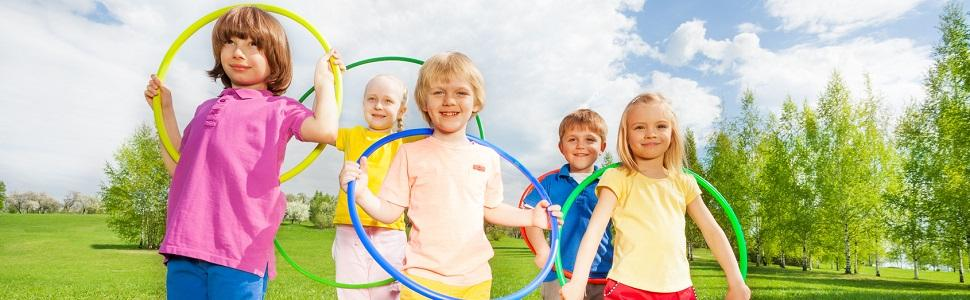 Kinder mit Hoopomania Kinder Hula Hoops