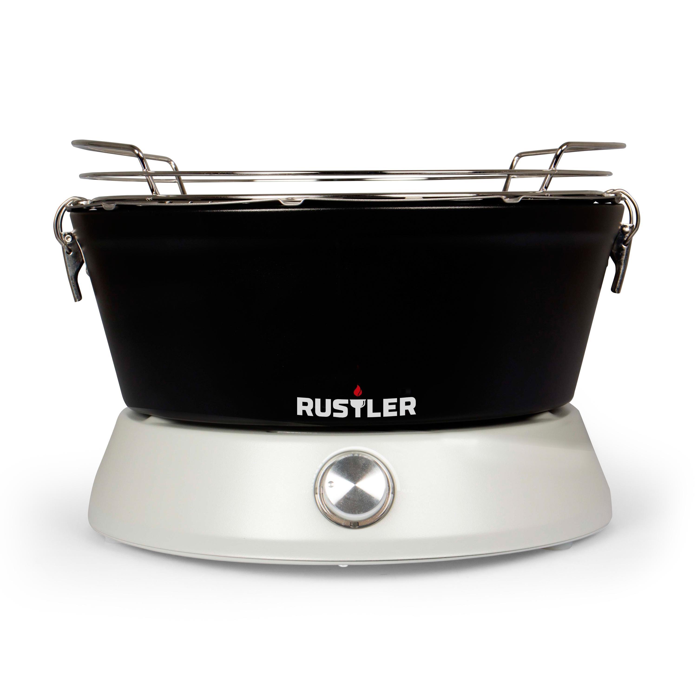 rustler rs 0838 holzkohlegrill mit bel ftung und. Black Bedroom Furniture Sets. Home Design Ideas
