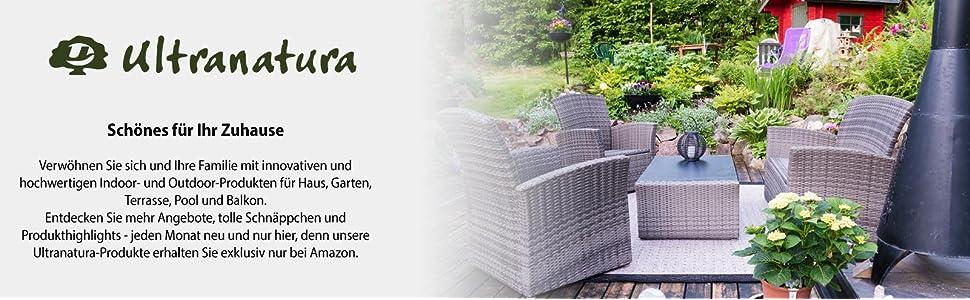 Ultranatura Haiti Gartenliege wetterfest, Schwungliege, Schaukelsessel,  Relaxsessel Aluminium, für Garten und Terrasse, ergonomisch, Liegestuhl, ...