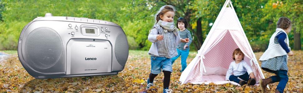lenco scd 420 silver tragbares ukw radio mit toplader cd. Black Bedroom Furniture Sets. Home Design Ideas