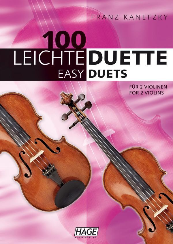 100 leichte Duette für 2 Violinen: Notenbuch für 2 Violinen: Amazon ...