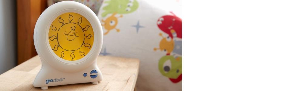 gro clock kinderuhr zeigt den unterschied zwischen tag und nacht baby. Black Bedroom Furniture Sets. Home Design Ideas