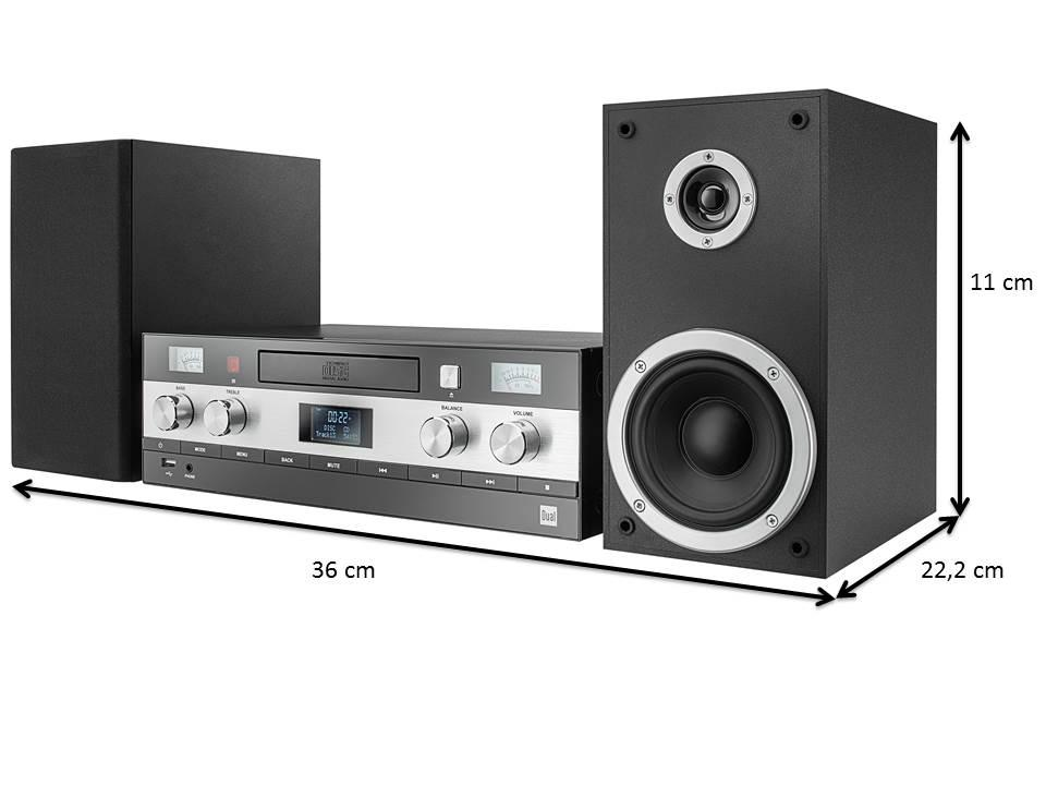 dual dab ms 130 cd stereoanlage schwarz elektronik. Black Bedroom Furniture Sets. Home Design Ideas