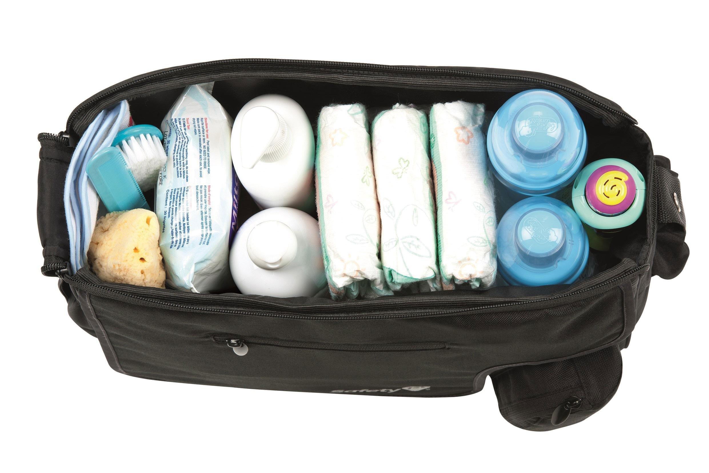 safety 1st 16339600 mod 39 bag praktische wickeltasche mit vielen f chern und wickelunterlage. Black Bedroom Furniture Sets. Home Design Ideas