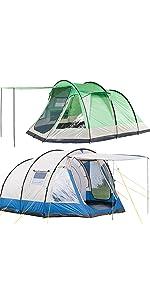 skandika Larvik 4 Personen Zelt, Kuppelzelt für 4 Mann