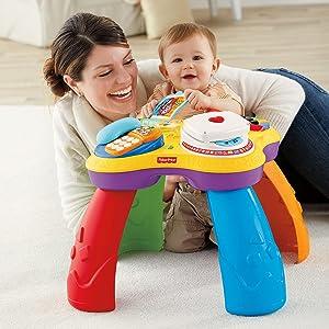 mattel fisher price y7757 lernspa tisch zweisprachig spielzeug. Black Bedroom Furniture Sets. Home Design Ideas