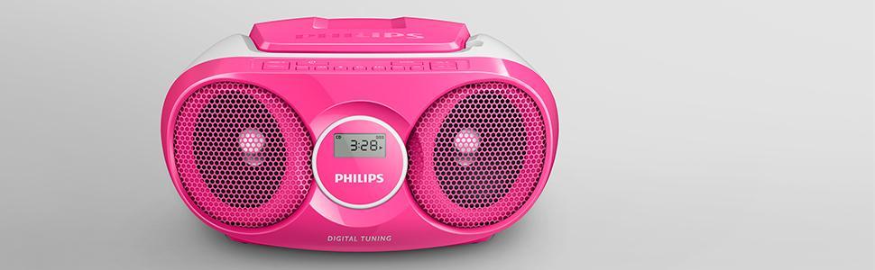 Beste Philips AZ215C CD-Soundmachine pink: Amazon.de: Elektronik HE-48