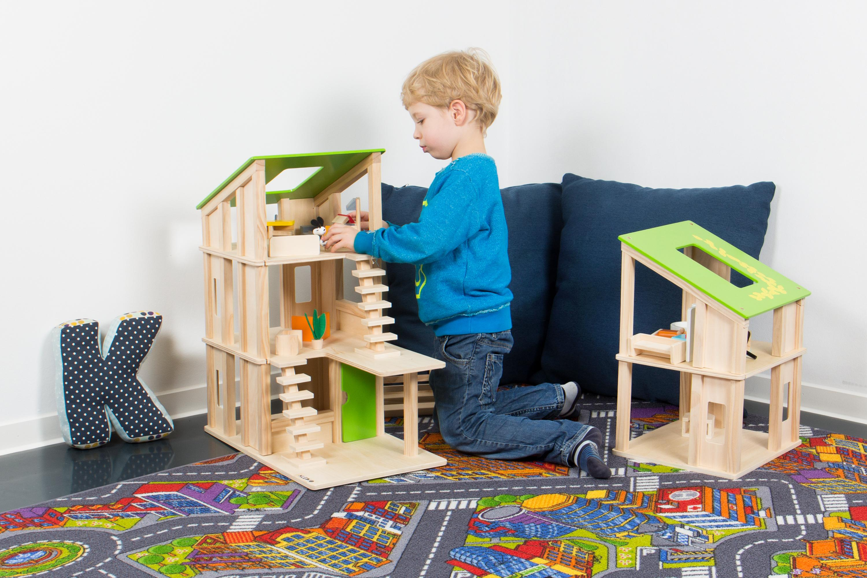 Kledio Kinder Holzpuppenhaus für Mädchen und Jungen ab 3