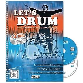 Let's Drum Band 1 mit 2 DVDs