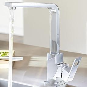 grohe eurocube küchenarmatur, schwenkbereich 360°, hoher auslauf ... - Grohe Mischbatterie Küche