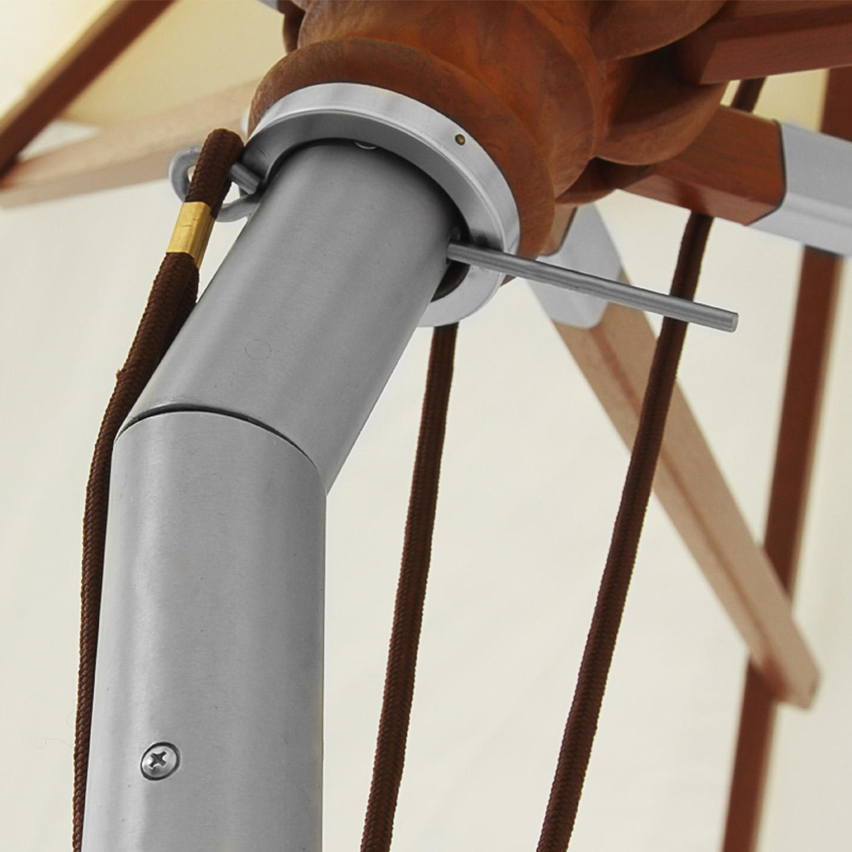anndora sonnenschirm gartenschirm 3 m rund dreh kipp mechanismus winddach terracotta. Black Bedroom Furniture Sets. Home Design Ideas