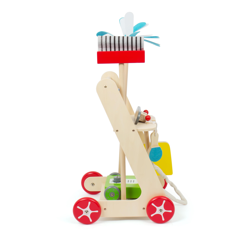 kledio kinder reinigungswagen aus holz fsc 100 putzwagen ist 6 teilig holzspielzeug f r. Black Bedroom Furniture Sets. Home Design Ideas