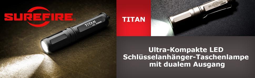 Surefire Titan Plus Ultra-Kompakter Dimmbare LED-Taschenlampe