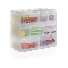 rotho schubladenbox mit 2 sch ben systemix aus kunststoff pp ablagefach gr sse m duo. Black Bedroom Furniture Sets. Home Design Ideas