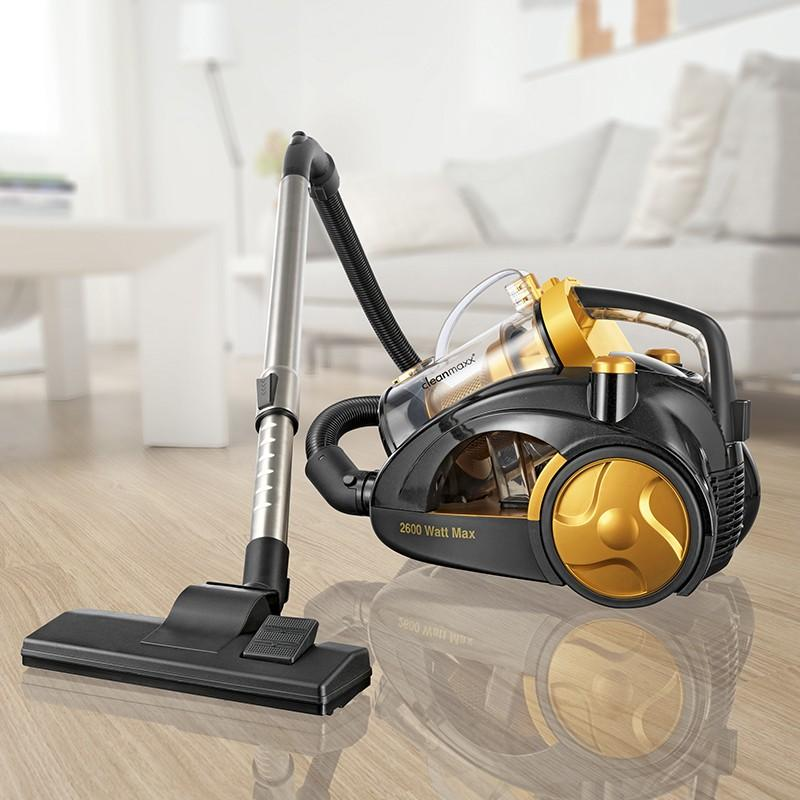 tv unser original 09065 cleanmaxx multizyklon staubsauger 2600 w plus gold. Black Bedroom Furniture Sets. Home Design Ideas