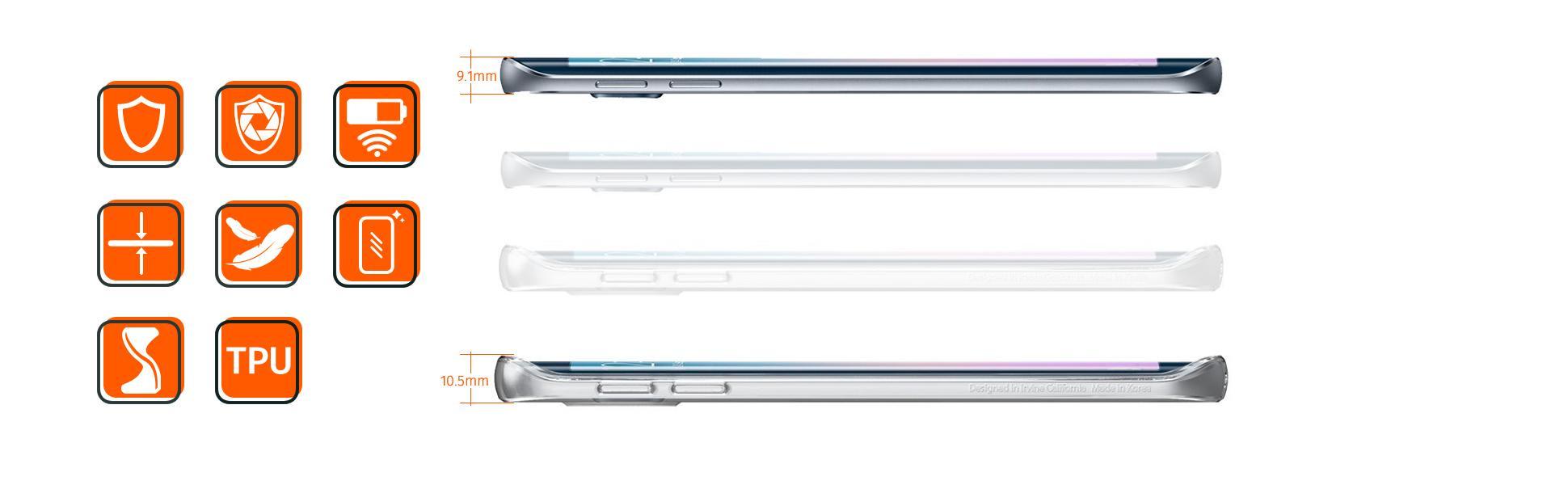 Samsung Galaxy S6 Edge Hülle, Spigen® Ultra Dünn: Amazon