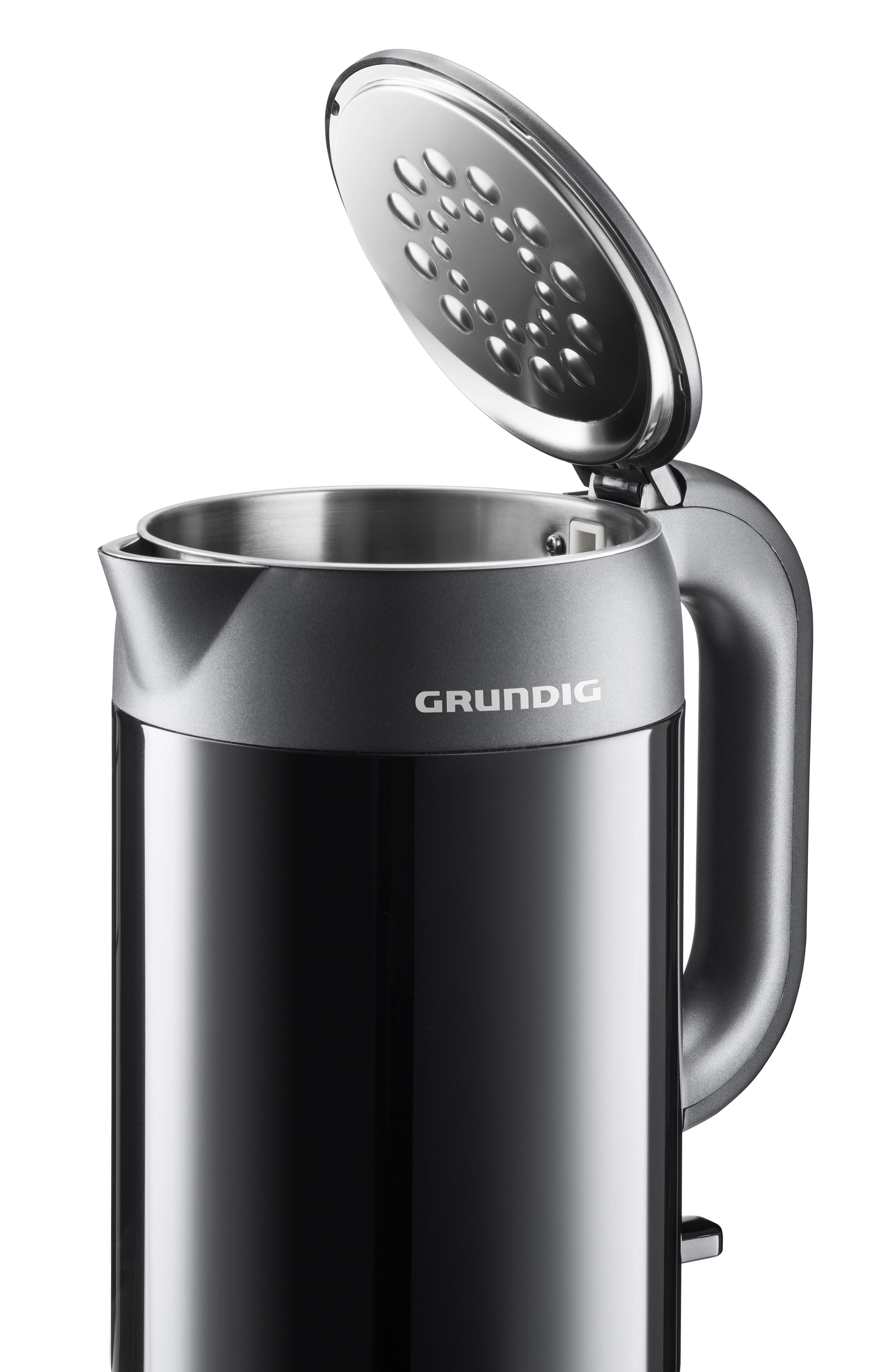 2200 Watt Grundig WK 6440 doppelwandiger Edelstahl Wasserkocher Cool-Touch