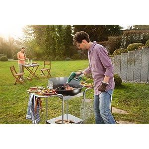 Das Heißluftgerät PHG 500-2 eignet sich ideal zum Anzünden des Grills.