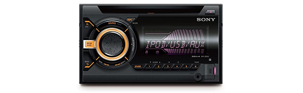 Sony WX-800UI 2 Din CD Autoradio (USB und Aux Anschluss, Apple iPod ...