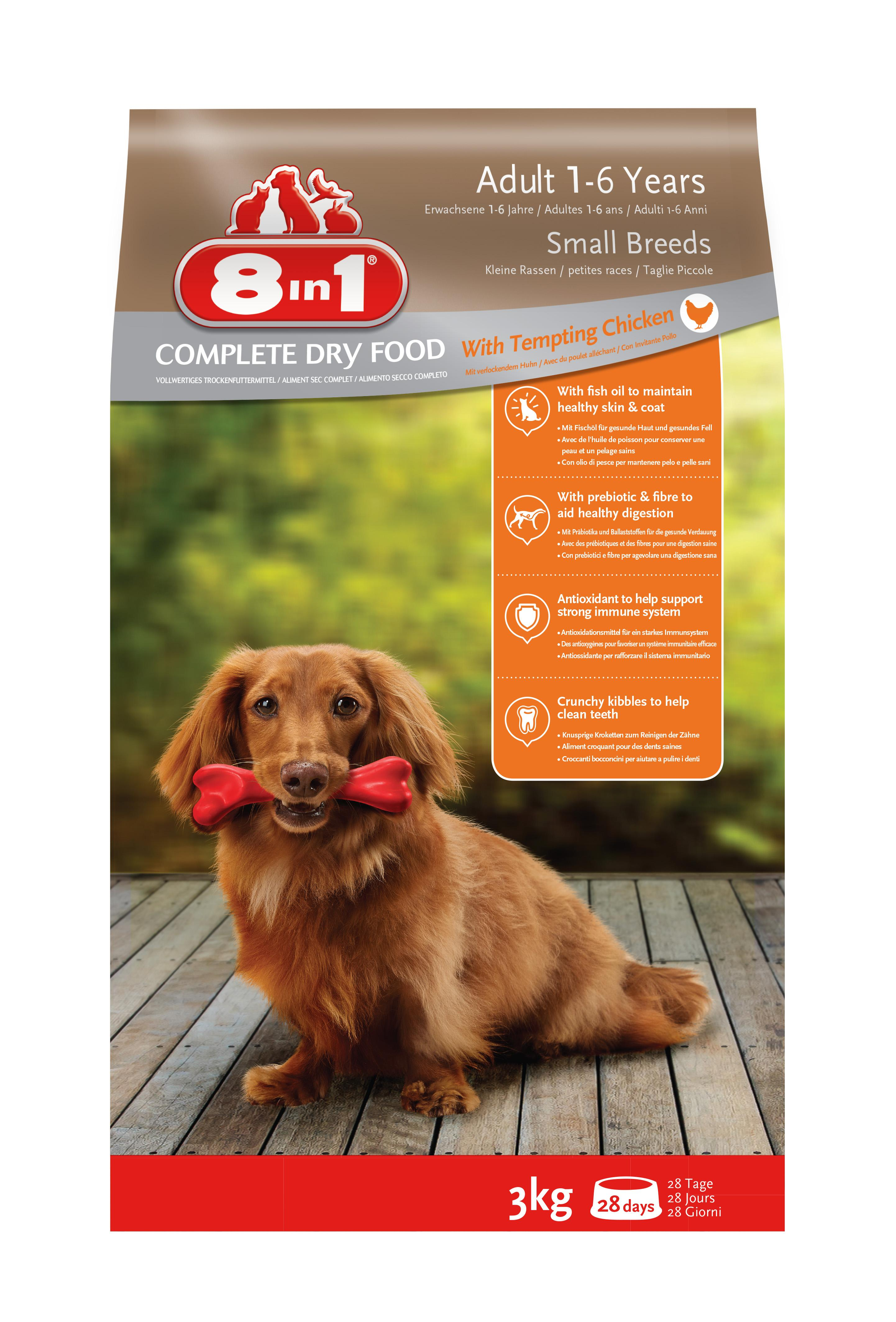 8in1 Hund Erwachsen Klein Huhn (Trockenfutter für kleine