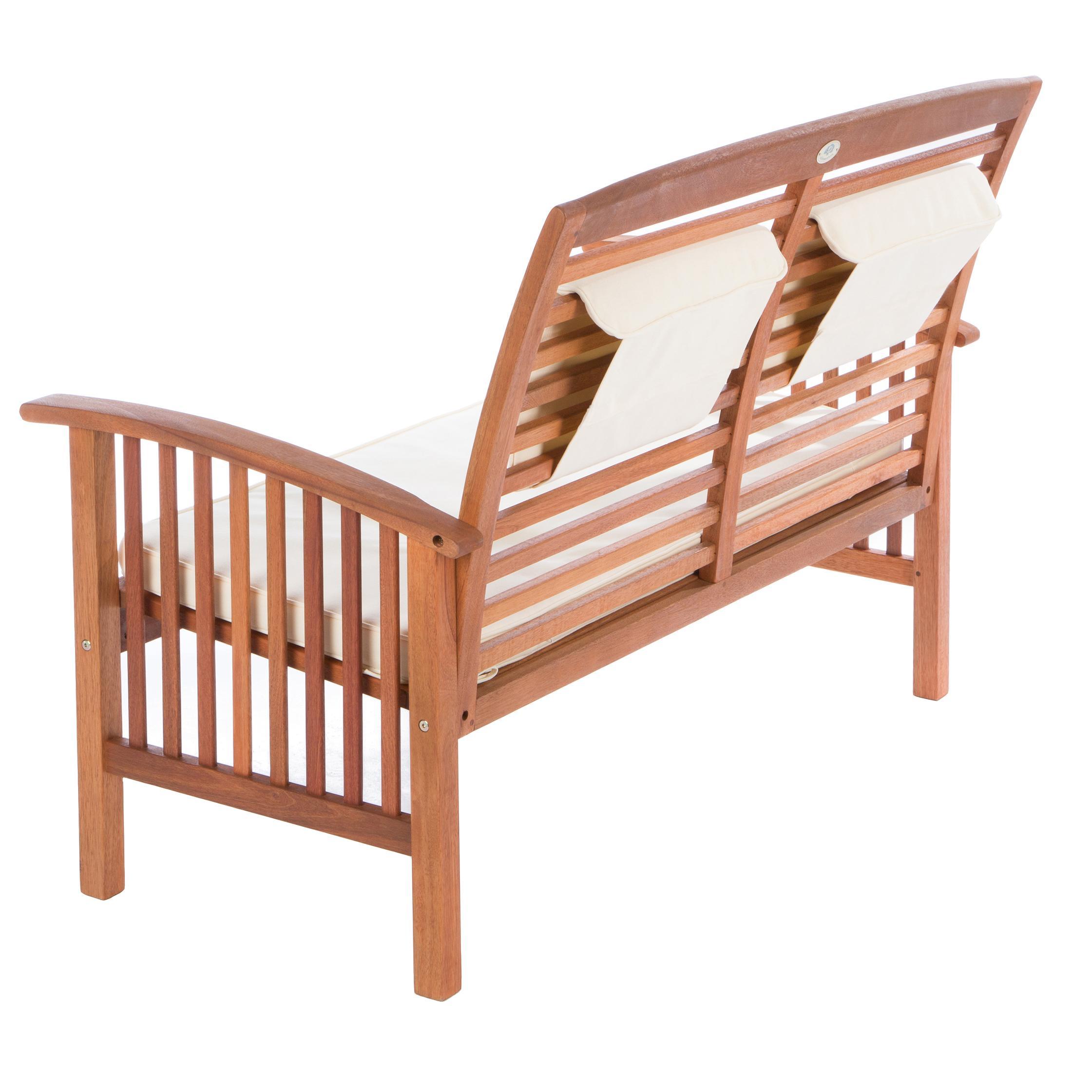 ultranatura loungebank 2 sitzer canberra serie edles hochwertiges eukalyptusholz. Black Bedroom Furniture Sets. Home Design Ideas