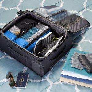 amazonbasics kleidertaschen set 4 teilig 2 mittelgro e und 2 gro e kleidertaschen blau. Black Bedroom Furniture Sets. Home Design Ideas