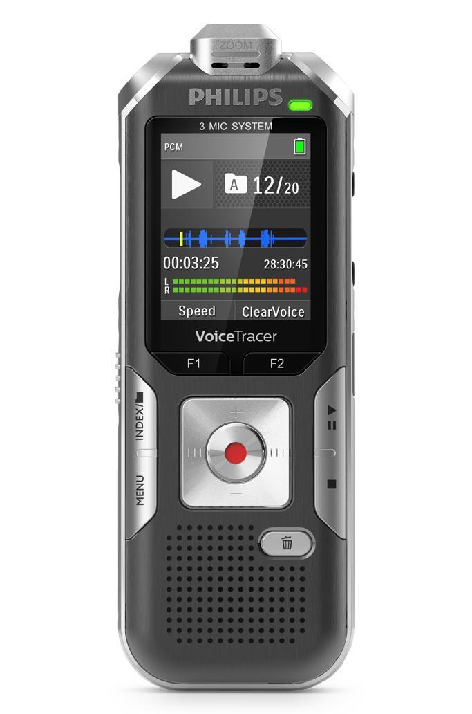 Philips DVT6010 Digitales Diktiergerät mit 3 Mic Auto