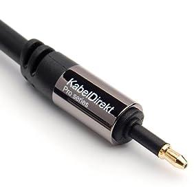 Kabeldirekt 0 5 M Mini Toslink Kabel Elektronik